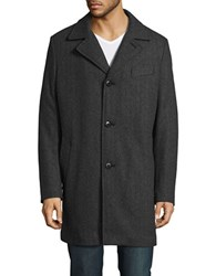 Pendleton Woolen Mills Solid Notch Collar Jacket Grey