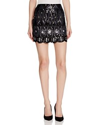 Romeo Juliet Couture Beaded Mini Skirt Compare At 218 Black