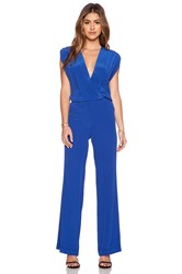 Twelfth St. By Cynthia Vincent Sleeveless Jumpsuit Blue