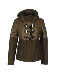 Pinko Grey Jackets Military Green