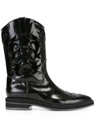 Antonio Marras Embroidered Cowboy Boots Black