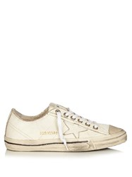 Golden Goose V Star Low Top Leather Trainers White