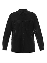 Anne Vest Perforated Suede Shirt