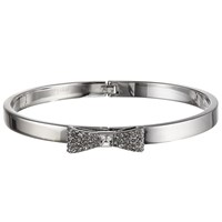 Kate Spade New York Glass Stone Pave Bow Bangle Silver