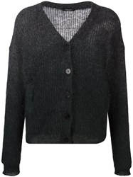 Roberto Collina Button Down Cardigan Grey