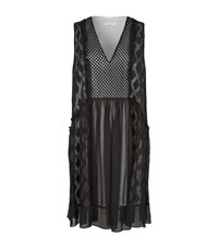 Sandro Reem Embroidered Lace Sleeveless Dress Female Dark Grey