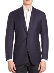Brioni Colosseo Wool Jacket Blue