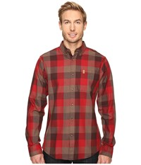 Fjall Raven Vik Big Check Shirt Long Sleeve Burnt Red Men's Clothing