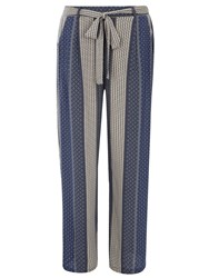 Dorothy Perkins Paisley Stripe Palazzo Trousers White