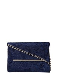 Dorothy Perkins Lace Chain Clutch Bag Blue