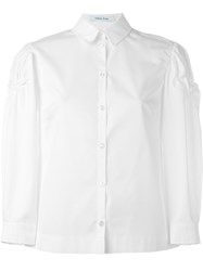 Simone Rocha Ruched Sleeve Shirt White