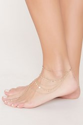 Forever 21 Layered Disc Charm Anklet