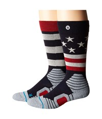 Stance Clawhammer Nvy Navy Men's Crew Cut Socks Shoes Multi