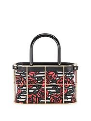 Charlotte Olympia Rose Print Caged Shopper Multi
