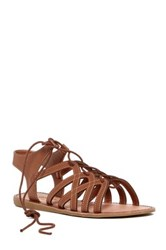 Elegant Footwear Lupitaa Lace Up Sandal Brown