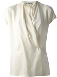 Celine Vintage V Neck Top Nude And Neutrals