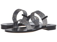 Sarah Jessica Parker Wallace Silver Scintillate Black Nappa Women's Shoes
