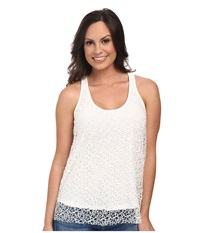 Roper 9773 Poly Crochet Mesh Racer Back Tank White Women's Sleeveless
