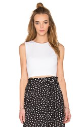 Eight Sixty Ponte Crop Top White
