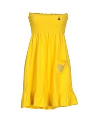 Beayukmui Dresses Short Dresses Women Yellow