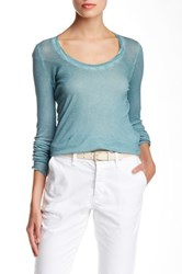 Zadig And Voltaire Daly Ribbed Long Sleeve Tee Blue