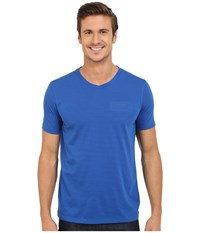 Marmot Salt Point V Neck Short Sleeve Tee True Blue Men's T Shirt