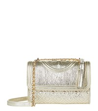 Tory Burch Fleming Small Convertible Shoulder Bag Female Gold