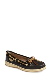 Sperry 'Angelfish Metallic Dot' Boat Shoe Black Gold Dot