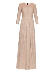 Burberry Poppy Cotton Blend Lace Dress Nude