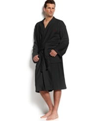 Polo Ralph Lauren Men's Sleepwear Kimono Velour Robe Polo Black