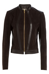 Michael Kors Suede Jacket Brown
