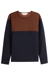 Marni Two Tone Sweatshirt With Virgin Wool Multicolor