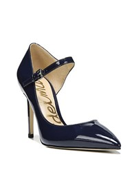 Sam Edelman Nora D Orsay Patent Leather Pumps Navy