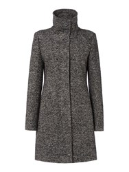 Hugo Boss Okirana4 Textured Coat Black