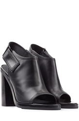 Alexander Wang Charisse Stacked Heel Leather Sandals