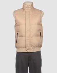 Asics Coats And Jackets Down Jackets Men Beige