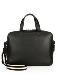 Bally Burke Smooth Leather Laptop Bag Black