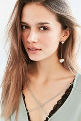 Urban Outfitters Ball And Chain Drop Earring Silver