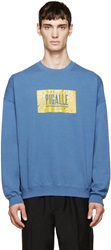 Pigalle Blue Wave Logo Sweatshirt