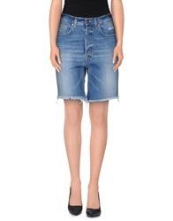 People Denim Bermudas Blue