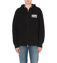 Lifes A Beach Lab Cotton Jersey Hoody Black