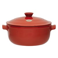 Emile Henry Round Stewpot Red 7L