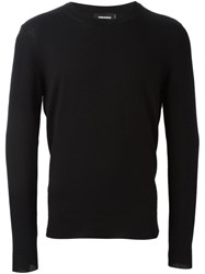 Dsquared2 Side Zip Knitted Jumper Black