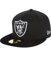 New Era 59Fifty Oakland Raiders Mesh Fitted Cap Black