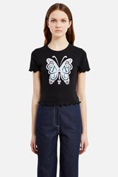 Anna Sui For Opening Ceremony Baby Doll Tee Blue Purple Multi