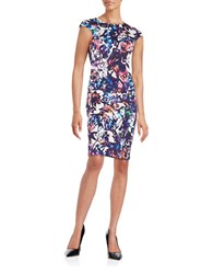 Betsey Johnson Floral Sheath Dress Multi Colored