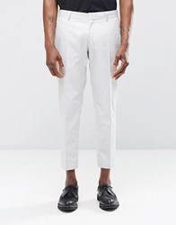 Religion Skinny Cropped Smart Trousers In Pale Grey Light Grey