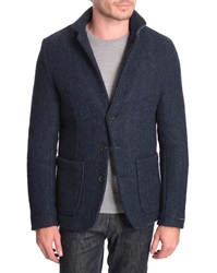Scotch And Soda Boiled Wool Jacket With Neoprene Lining
