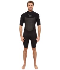 Rip Curl Dawn Patrol Short Sleeve Spring Black Men's Wetsuits One Piece