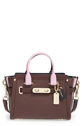 'Swagger' Colorblock Satchel Oxblood